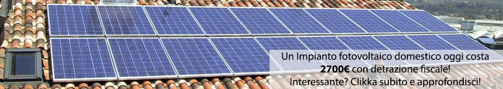 fotovoltaico domestico detrazione fiscale